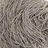 Cut 13/0 Metallic Silver Terra Strung
